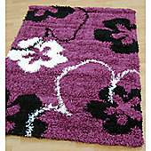 Origin Red Cosmo Purple / Black Rug - 150cm x 80cm (4 ft 11 in x 2 ft 7.5 in)