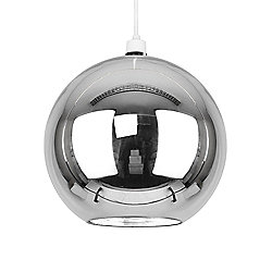 Modern Globe Ceiling Light Pendant Shade in Metallic Chrome