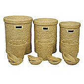 Wicker Valley Somerset Round Basket and Bowl (Set of 14)