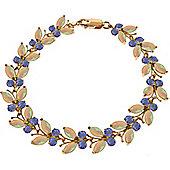 QP Jewellers 6in Tanzanite & Opal Butterfly Bracelet in 14K Rose Gold
