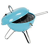 Tesco Retro Portable BBQ, Aqua