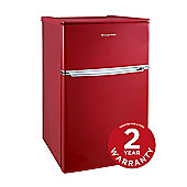 Russell Hobbs 48cm Red Under Counter Fridge Freezer, RHUCFF48R
