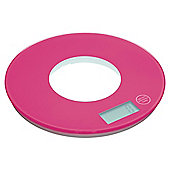 Colourworks Electronic 5kg Round Platform Kitchen Scales Pink