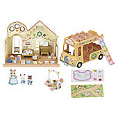 Sylvanian Families Forest Nursery Gift Set With Double Decker Bus And Accessories