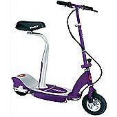 Razor E100S Seated Electric Scooter, Purple