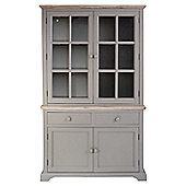 Home Etc Dorgeles Display Cabinet - Dove Grey