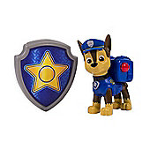 """Paw Patrol Nickelodeon Action Pack Pup & Badge 3"""" Chase"""