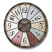Multi Coloured Paris Clock - Large