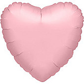Pastel Pink Heart Balloon - 32' Metallic Pearl Foil (each)