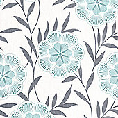 Superfresco Easy Flora Wallpaper - Teal