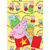 Peppa Pig Wrapping Paper, Birthday Card and Gift Tags Pack