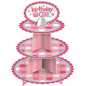 Birthday Girl Cupcake Stand - 3 Tier