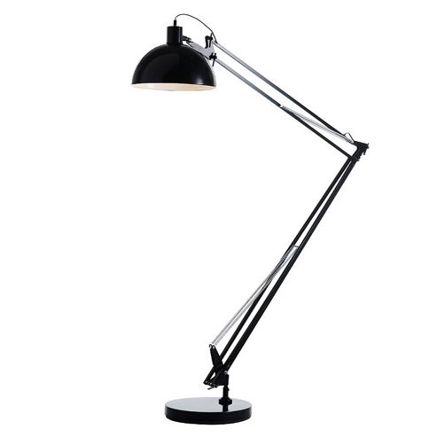 Giant Angle Floor Lamp, Gloss Black