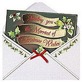 Lux Christmas Postcard Cards 6pk