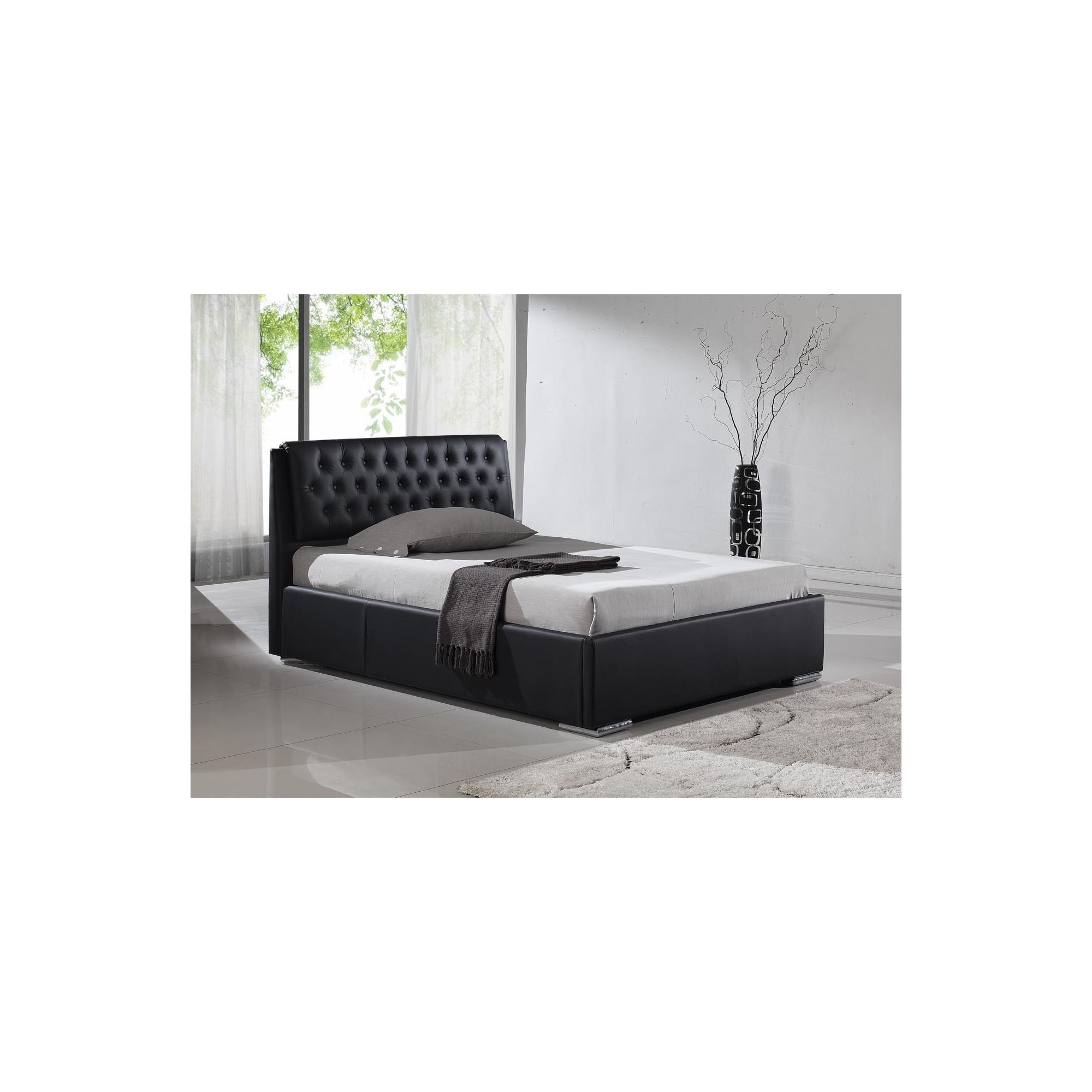 Interiors 2 suit Naples Bedframe - Black - King at Tesco Direct