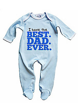 Dirty Fingers I have the Best. Dad. Ever. Baby Sleepsuit - Blue