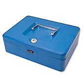 Helix 25cm Sloping Lid Cash Box Blue