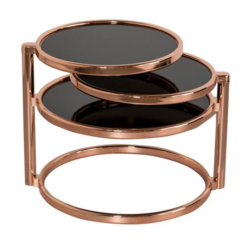 Buy Glass Coffee Table With Swivel Motion Black From Our Coffee Tables Range Tesco