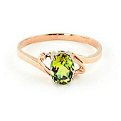 QP Jewellers 0.75ct Peridot Classic Desire Ring in 14K Rose Gold