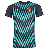 2014-15 Portugal Nike Pre-Match Training Jersey (Navy) - Navy