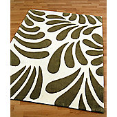Origin Red Lily Green Rug - 150cm x 80cm