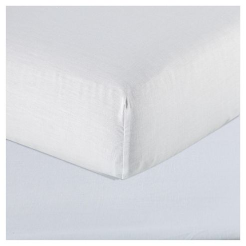 Tesco Value Fitted Sheet Single - White