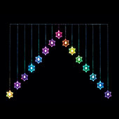 Snowflake 'V' Outdoor Colour Changing Curtain Light
