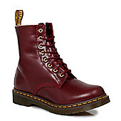 Dr Martens Red Serena Shiraz Buttero Womens MensLeather Boots - Red
