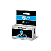 Lexmark No200XLA Inkjet Cartridge High Yield Cyan 14L0198