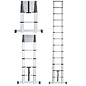 VonHaus 3.8m Extendable Aluminium Telescopic Ladder