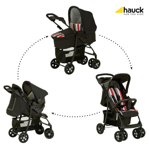 Hauck Shopper Trio Travel System, Rainbow/Black