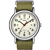 Timex Ladies Material Strap Watch T2N651