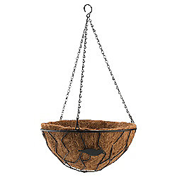 "Tesco 14"" Bird Design Hanging Basket"