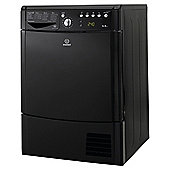 Indesit IDCE8450BKH Freestanding Condenser Tumble Dryer, 8kg Load, B Energy Rating, Black