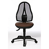Topstar Open Point Mesh Mid-Back Task Chair - Adjustable Arms - Purple - With Headrest