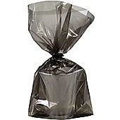 Black Large Cellophane Party Bags - 29cm