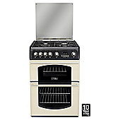 Hotpoint Cannon CH60GTCF Traditional Double Oven 60cm Gas Cooker - Cream