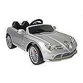 Kids Electric Car Mercedes Benz SLR 722S 12 Volt Silver Gloss