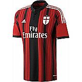 2014-15 AC Milan Adidas Home Football Shirt - Red
