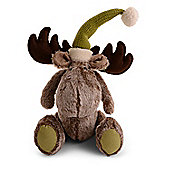 Sitting Handmade Fluffy Fabric Christmas Reindeer Ornaments Design B