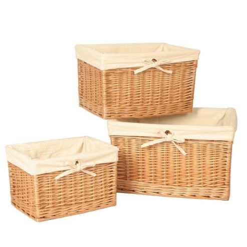 Wicker Valley Willow Storage Basket (Set of 3)