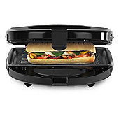Tower T27008 3-in-1 Sandwich Toaster, with 750W, and Cool Touch Housing, in Black