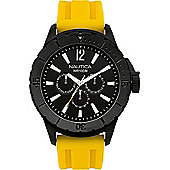 Nautica Gents Yellow Rubber Strap Watch A17596