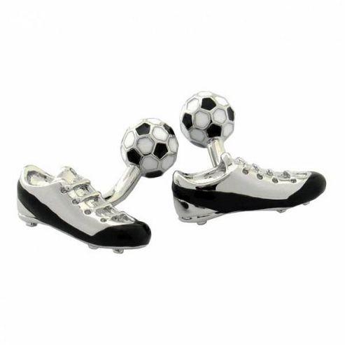 Maze Football Boot Cufflinks
