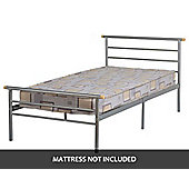 ValuFurniture Orion 3 0 inch Single Bed in Silver