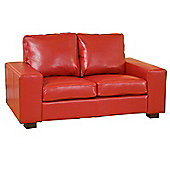 Global Furniture Direct Pocket Sprung Bonded Leather 2 Seater Sofa - Brown