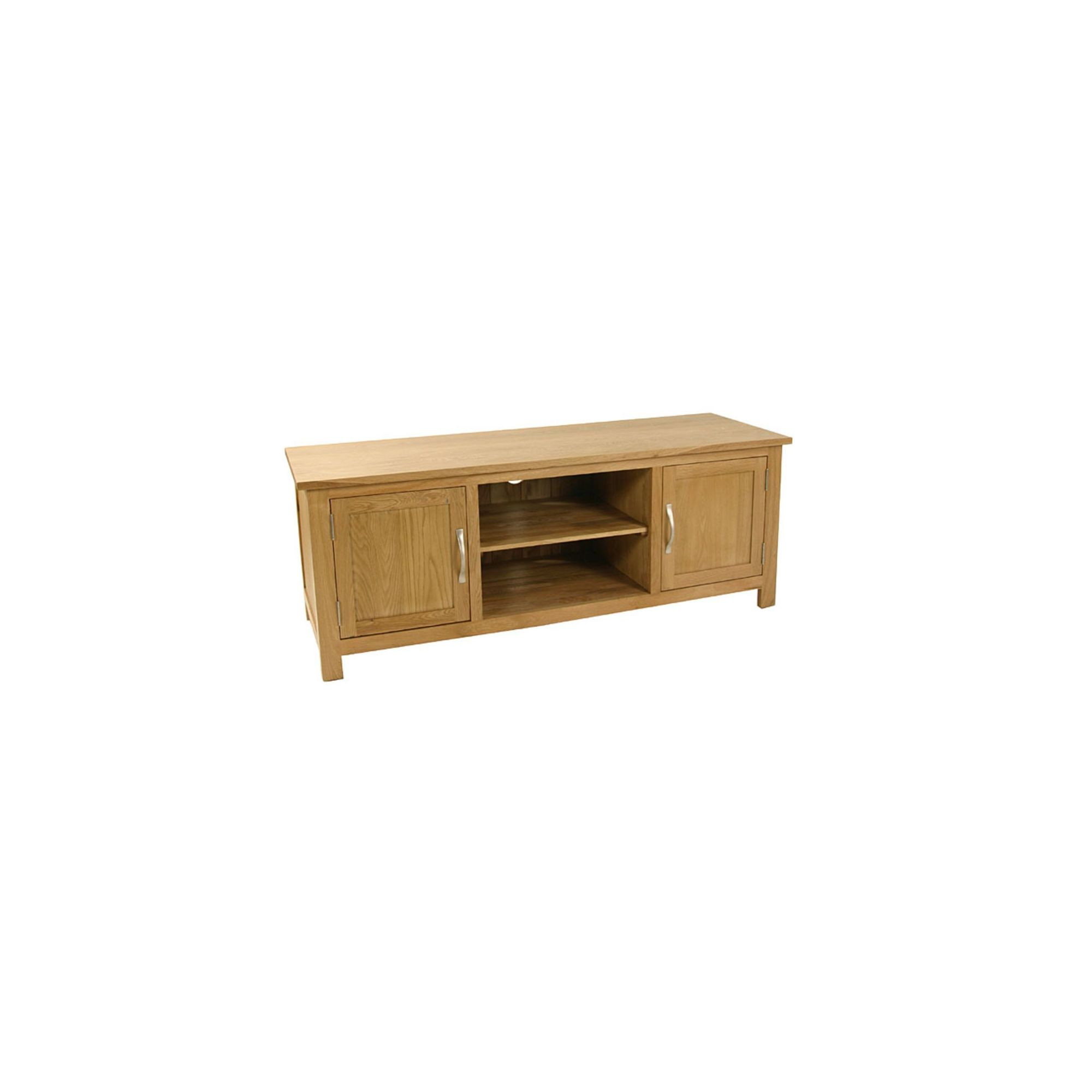 Kelburn Furniture Essentials 125cm Plasma TV Stand in Light Oak Stain and Satin Lacquer at Tescos Direct