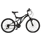 "Muddyfox Mayhem 24"" Kids' Dual Suspension Mountain Bike"