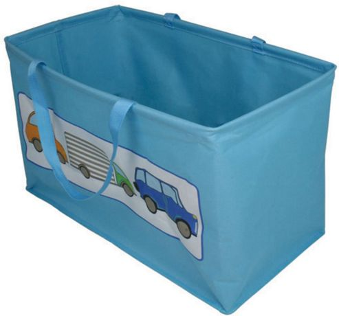 buy blue transport themed storage bin from our boxes. Black Bedroom Furniture Sets. Home Design Ideas