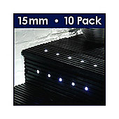 MiniSun Pack of Ten 15mm White LED Decking Lights